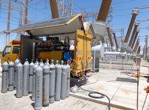 Sulfur Hexafluoride high-voltage switchgears control of emissions rental